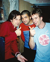 John, Paul and Andy backstage, Public Bar, North Melbourne,1998