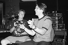 David Price and Andy at Velvet Studios, Sydney 1998