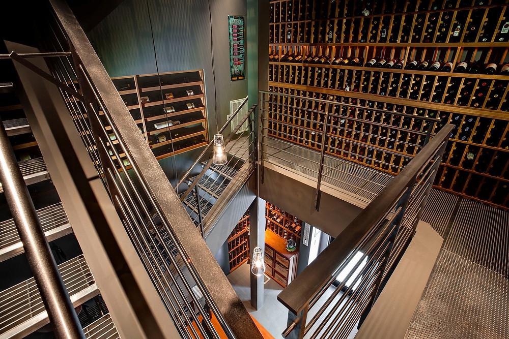 Wine Tower designed by Thomas Warner Wine Cellars