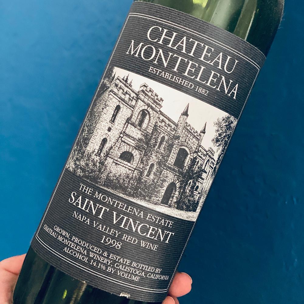 The epiphany bottle. Chateau Montelena's Saint Vincent
