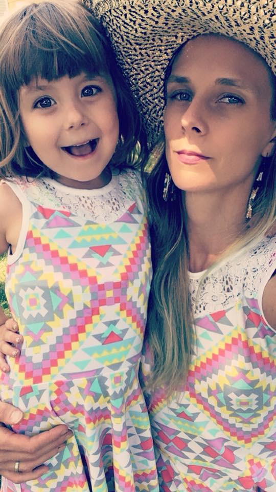 Jill McClennen with her daughter Verbena