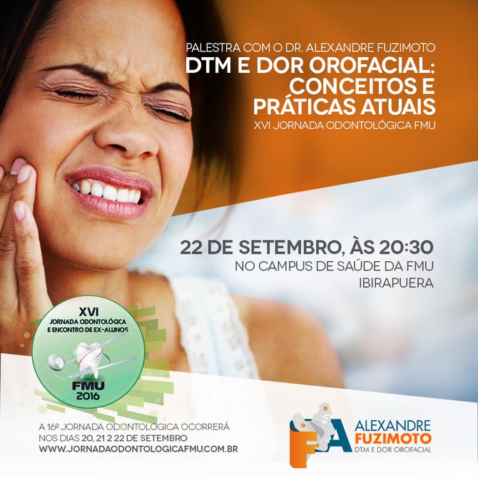 Palestra com o Dr. Alexandre Fuzimoto, dia 22 de Setembro, às 20h30.