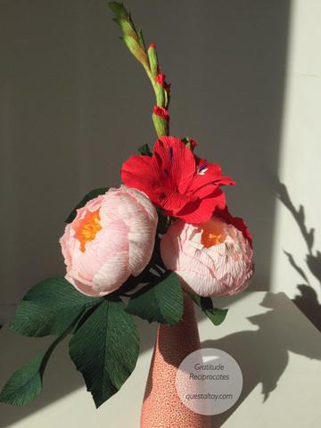 Peonies & Gladiolus, $55