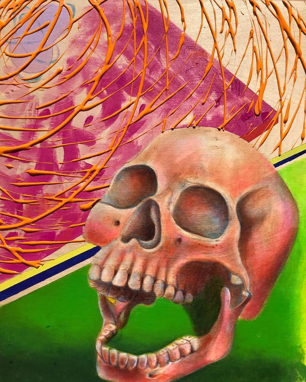 skull study (hot pink)