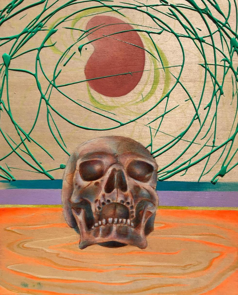 skull study (mauve)