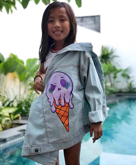 Sassy in Her Grape Sugar Skull Ice cream Jacket