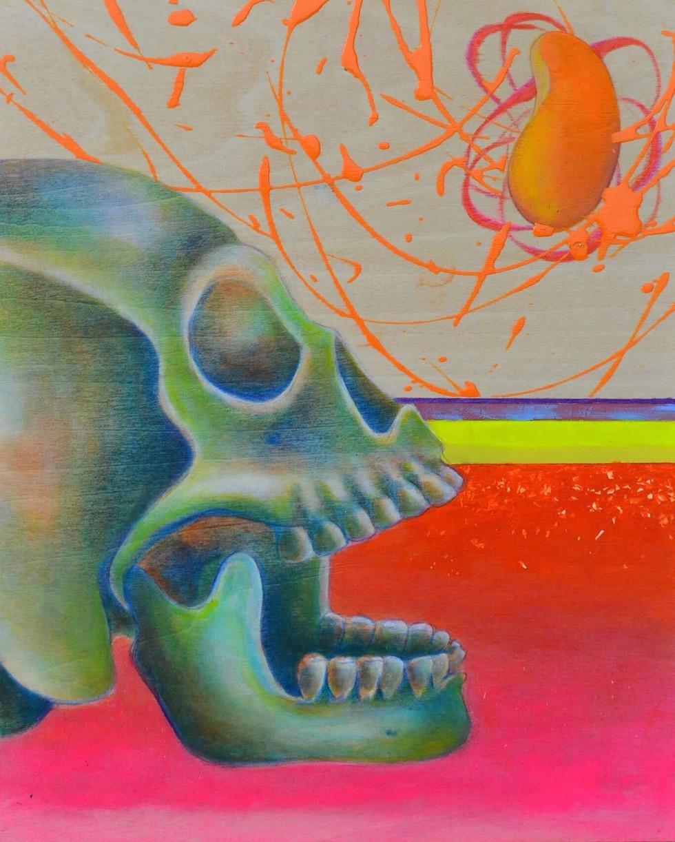 skull study (green)