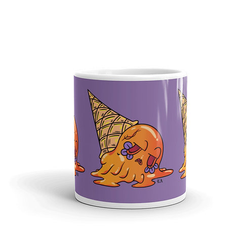 Orange Sugar Skull ice cream Mug