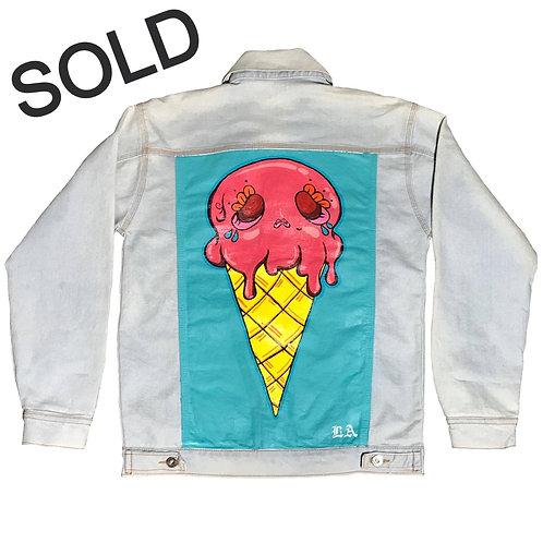 Hand painted | Strawberry custom painted jacket