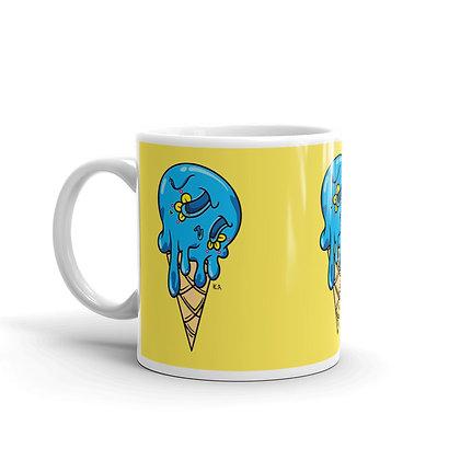 Blue Sugar skull Ice Cream Mug