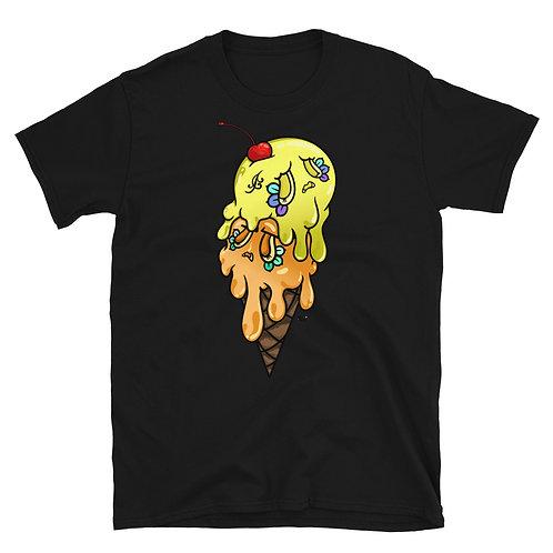 Yellow & Orange Sugar Skull ice cream Unisex T-Shirt