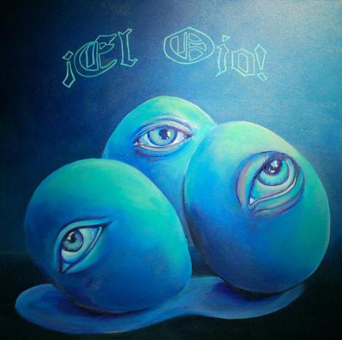 El Ojo, acrylic on canvas, 20x20in,2012.