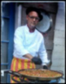 Chef William with Paella