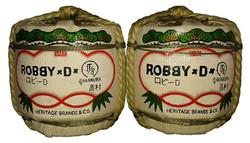 Handbemalte Sake-Fässer
