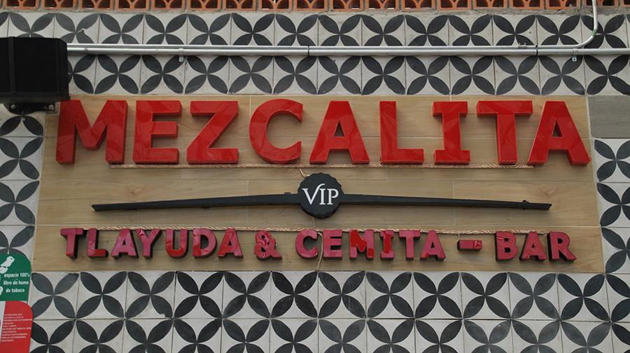 Mezcalita 3D-Beschriftung