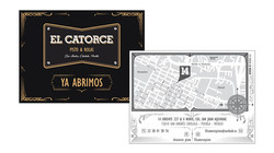 Flyer mit Vintagekarte
