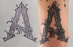 Zeichunung für ein Tattoo