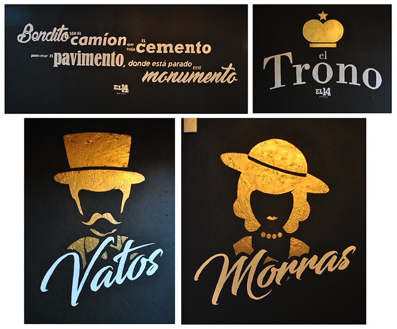 Handgemalte Letterings in Bar