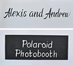 Handbemalte Schilder für Hochzeit