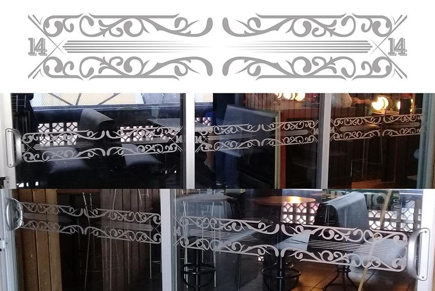 Gestaltung und Fensterbeschriftung