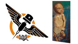 Logo-Applikation und Illustration