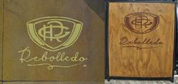 Handgemalte Logos