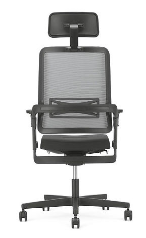 Xilium mesh back office chair in black