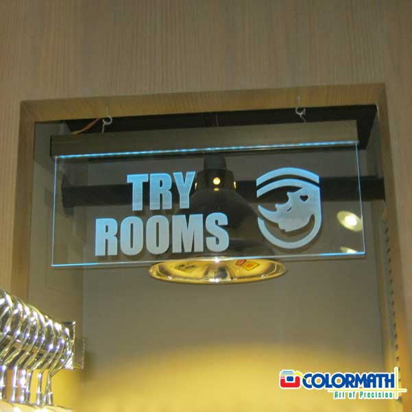 Acrylic LED Indoor Sign