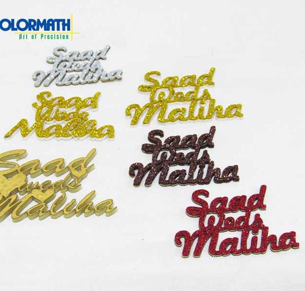Acrylic -Laser cut - Names