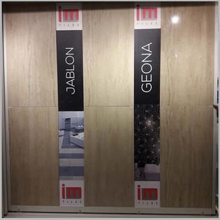 Vinyl Branding on Tiles Panel