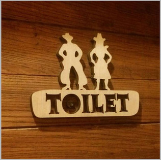 Wood Engraving Toilet