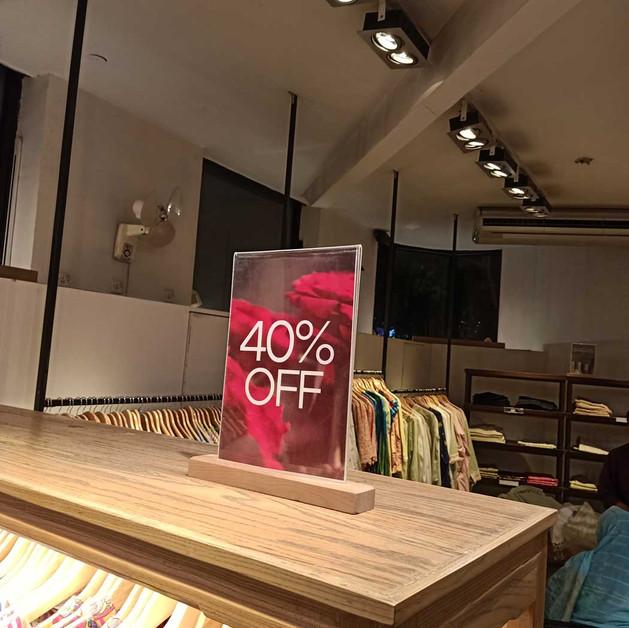 Wooden Shelf Talker
