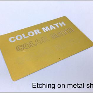 Etching on Metal Sheet