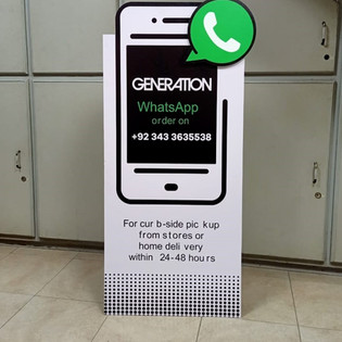 Promotional Cutout Stand