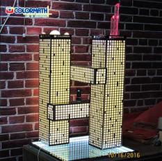 Neon Light Building