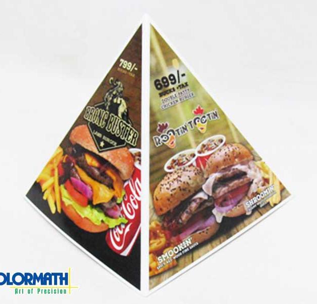 Table Menu - Pyramid Shape