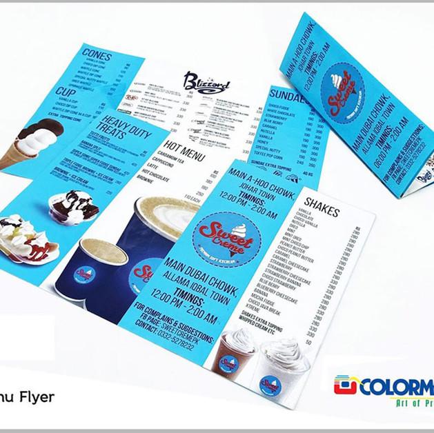 Paper - Menu Flyer