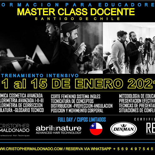 Master Class Docente 2021 / Valor Total
