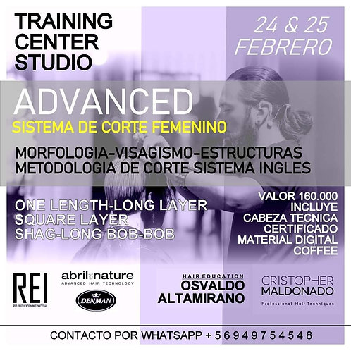 Workshop Sistema de Corte Femenino / Sistema Ingles.