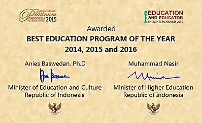 Language Studies Indonesia - Best Education Program Of The Year, 2014, 2015 & 2016