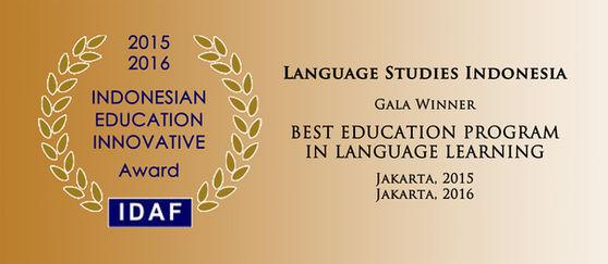 Language Studies Indonesia - Best Education Program In Language Learning, 2014 & 2015