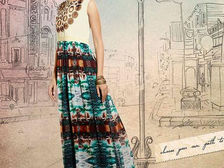 Drape latest designer kurtis with leggings
