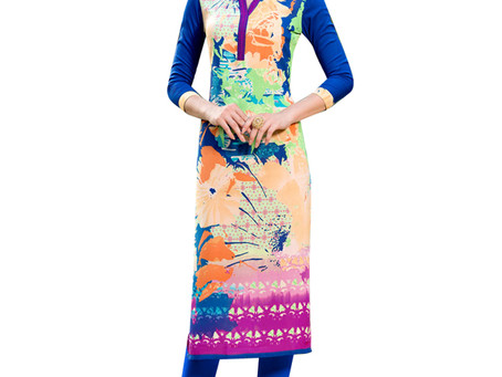 Designer embroidered Kurtis online at a reasonable rate