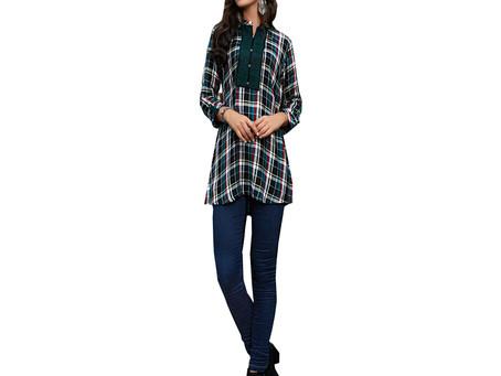 Grace yourself with Shirt Style Kurti pattern