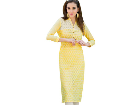 Why embroidery kurtis are so fashionable