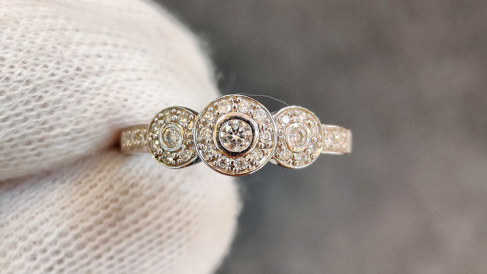 White Gold & Diamond Triology Ring