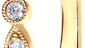 Yellow Gold Vintage Shared Claw Set Diamond Band