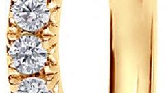 Yellow Gold Wave French Pave Set Diamond Band