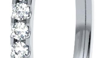 White Gold Scallop Set Diamond Band