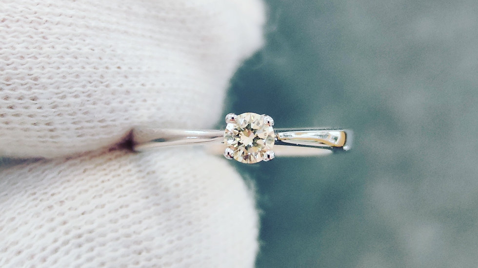 White Gold & Diamond Solitaire Ring